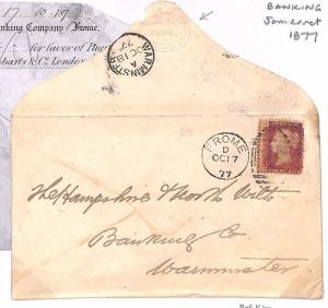 C89 1877 GB Banking Somerset *FROME* Warminster Cover {samwells-covers}PTS