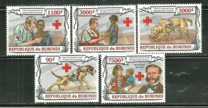 Burundi MNH Set Of 5 Red Cross 150th Anniversary