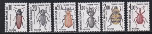 France # J106-107, 110-112 & 114, Beetles,  NH, 1/3 Cat.