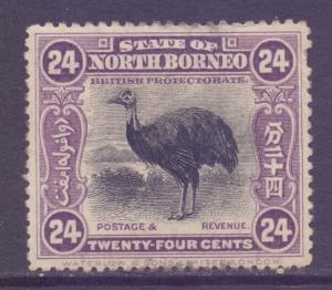 North Borneo Scott 149 - SG176, 1909 Cassowary 24c MH*