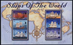 Turks & Caicos 1326 MNH Sailing Ships, Map
