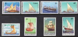MALDIVE ISLANDS SCOTT 735-742