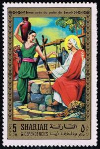 Sharjah Mi#763 listed Jesus at Well; Unused