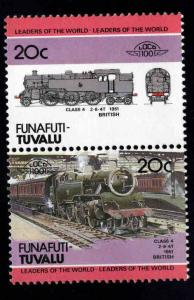 Funafuti-TUVALU Scott 6 MNH** Train pair