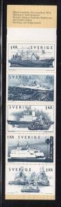 Sweden Sc 1100a 1974 Shipping  stamp bklt of 5 mint NH