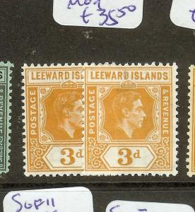 LEEWARD ISLANDS   (P1603B) KGVI  3D  SG107-107A MOG