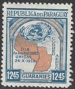 Paraguay  MNH  United Nations Day 1959