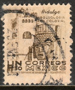 MEXICO 864, $1P 1950 Definitive wmk 279 Used. VF. (429)