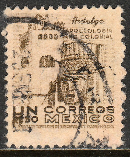MEXICO 864, $1P 1950 Definitive wmk 279 Used. VF. (429)