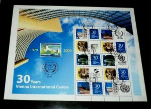 U.N. 2009, VIENNA #456b PERSONALIZED SHEET OF 10, CTO, NICE!! LQQK!!