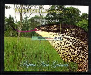Lizards of Papua  S/S..mnh
