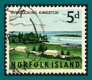 Norfolk Island 1964 Views, 5d used  #49,SG51