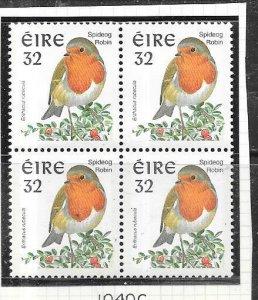 Ireland #1040c 32pBirds block of 4 (MNH) CV$19.00