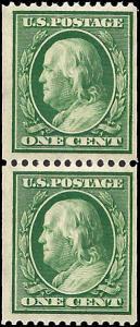 348 Mint,OG,LH... Pair... SCV $100.00