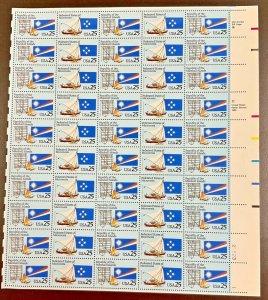 2506-2507   Micronesia/Marshall Island  MNH 25 c Sheet of 50 FV $12.50