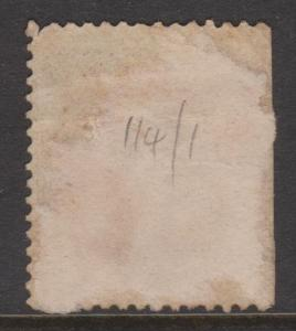 Great Britain 1867 QV 10d Red Brown Sideface Sc#53 Plate #1 Used