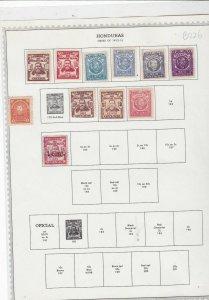 honduras 1913-15 stamps   ref 10621