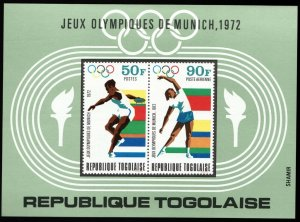 1972 Togo 932-933/B65b 1972 Olympic Games in Munchen 5,00 €