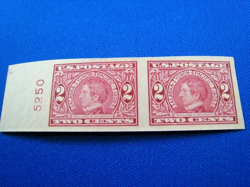 UNITED STATES,  1909 SCOTT #371  -  MNH Plate Number Pair