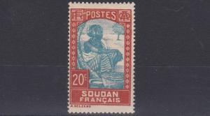 FRENCH COLONIES SUDAN  1931  20C  BLUE & BROWN      MH