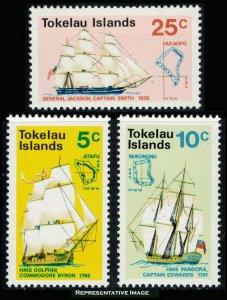 Tokelau Scott 22-24 Mint never hinged.