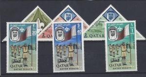 Qatar, 53//60 (6v), Boy Scouts Singles,**VLH**