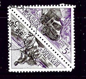 Congo (PR) J37a CTO 1961 Pair
