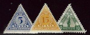 Bolivia SC J1, J3, J8 Mint F-VF hr...Worth a Close Look!