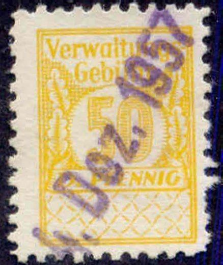 Germany 1950s 2 pfg Municipal Revenue Stamp