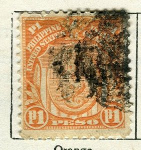 PHILIPPINES; 1908 early Portrait series issue used 1P. value