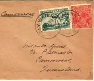AUSTRALIA Air First Flight Cover *Daly Waters NT* Camooweal 1934 {samwells}PA27