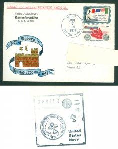 USA. Cover Apollo 15 Spc. Cover Nyborg Stamp Club Danehof Exhibition 1971