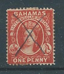 Bahamas 16 1863-81 1d Victoria Pen Cancel