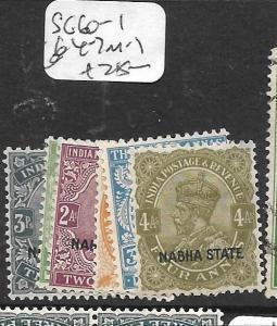 INDIA  NABHA  (PP1305B) KGV  SG 60-1, 64-7  MOG