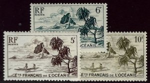 French Polynesia SCV#173-175 MNH VF...Worth a Close Look!