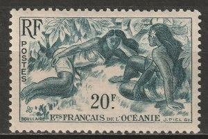 French Polynesia 1948 Sc 177 MNH** toning