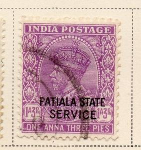 Indian States Patiala 1932 Early Issue Fine Used 1a.3p. Optd 084701