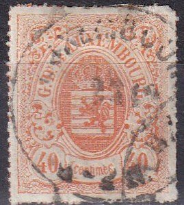 Luxembourg #25  F-VF  Used  CV $80.00  Z1135