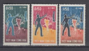South Vietnam 1964 Full  Set Sc#239-241 MNH Luxe (White Gum)