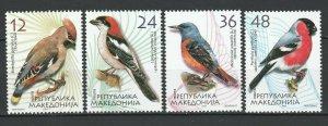 Macedonia 2004 Birds 4 MNH stamps