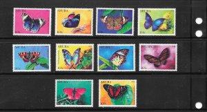 BUTTERFLIES - ARUBA #385-94   MNH