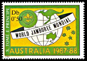 Saint Thomas and Prince 815, MNH, Boy Scout Jamboree in Australia