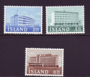 Iceland Sc 345-7 1962 New Buildings  stamp set mint NH