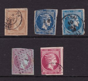Greece x 5 used imperf Hermes unsorted