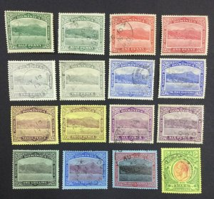 MOMEN: DOMINICA SG #47-54 SHADES 1908-20 USED £350 LOT #62121