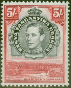 KUT 1944 5s Black & Carmine SG148b P.13.25 x 13.75 V.F MNH
