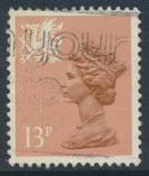 Great Britain Wales  SG W38ea SC# WMMH21a Used  13p Machin see scan