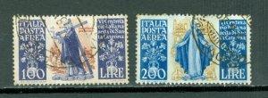ITALY ST.CATHERINE  #C127-128...SET...USED NO THINS...$64.00