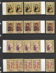 Antigua 905-8 MNH set x 5, vf. see desc. 2020 CV$18.25