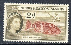 Turks & Caicos  1957   sg 239   2d  -  value  MM